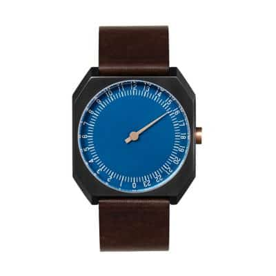 slow Jo 30 - One hand watch, anthracite case, blue dial - Swiss Made-1