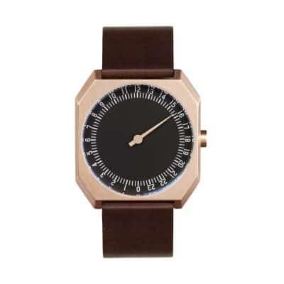 slow Jo 32 - Single Hand wrist watch - Rose Gold, Black-1